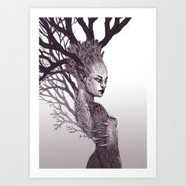 Tree Spirit - Dryad Queen Art Print