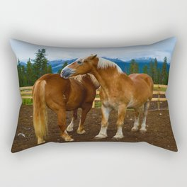 Horses in Jasper National Park, Canada Rectangular Pillow