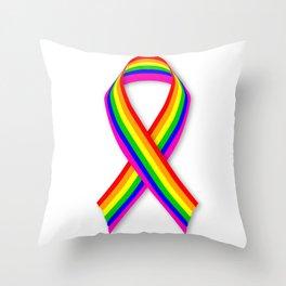 LGBT Awareness Ribbon Throw Pillow