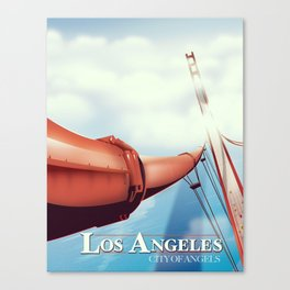 """Los Angeles """"City of Angels"""" Travel poster Canvas Print"""