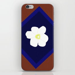 White blossom in my heart iPhone Skin