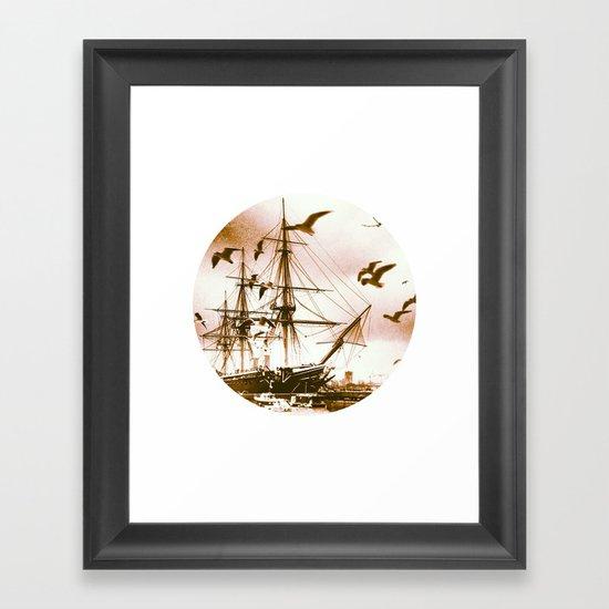 Telescope 5 tall ship Framed Art Print