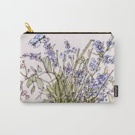Wildflowers Botanical Flowers in Pitcher Carry-All Pouch
