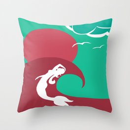 Mermaid Silhouette Throw Pillow