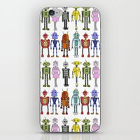 robots iPhone & iPod Skins featuring Robots by Annabelle Scott