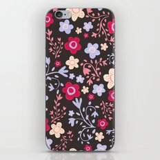 Flowers and Vines Pattern iPhone Skin