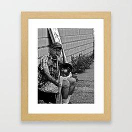 Trombone Busking Framed Art Print