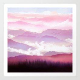 Candy Floss Mist Art Print