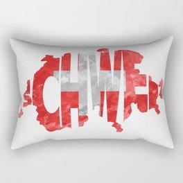 Schweiz / Switzerland Typographic Flag / Map Art Rectangular Pillow