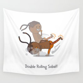 Double Rolling Sobat! Wall Tapestry