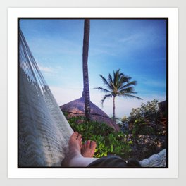 Relaxing in XelHa Art Print
