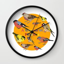 Charm of Finches Wall Clock