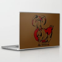 fat Laptop & iPad Skins featuring Fat Goat by Esmeralda Snaphaan