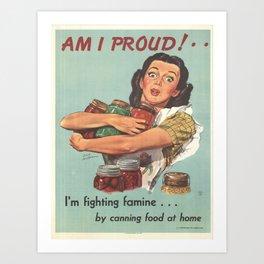 Vintage poster - Am I Proud? Art Print