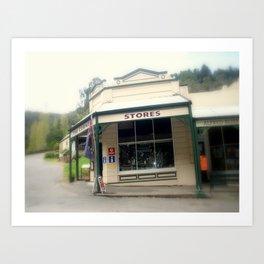 Walhalla - The Corner Stores Art Print