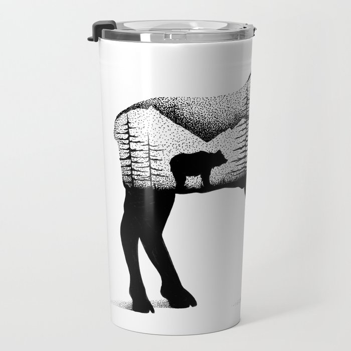 THE MOOSE AND THE BEAR Travel Mug
