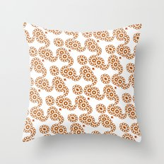 Rosette chain Throw Pillow
