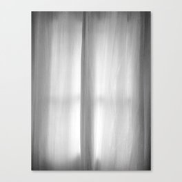 Curtains on a Rainy Afternoon Canvas Print