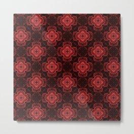 Red Velvet (kaleidoscope pattern) by Shiri Mor Metal Print