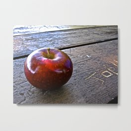 Apple at the Table - The Peace Collection Metal Print