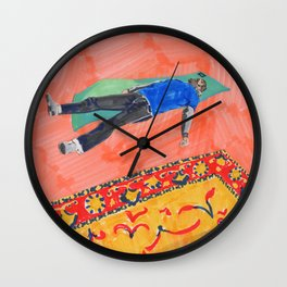 Long Day at the Office Wall Clock