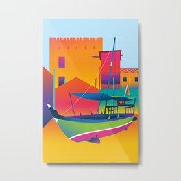 Bastakiya Metal Print