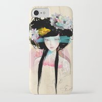 data iPhone & iPod Cases featuring Nenufar Girl by Ariana Perez