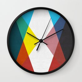 Colorful Triangles I Wall Clock