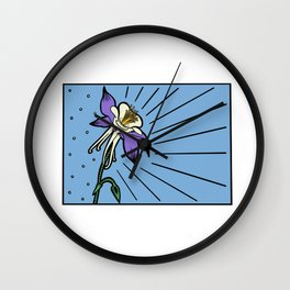 Colorado Columbine Color Wall Clock