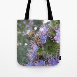 Bees on Buddleia Tote Bag