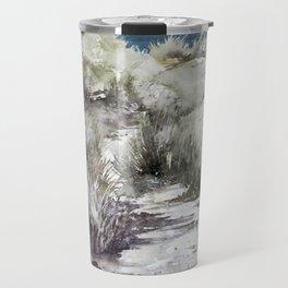 Cold seashore grass Travel Mug