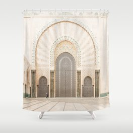 Perspective - Hassan II Mosque - Casablanca, Morocco Shower Curtain
