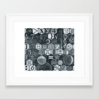 math Framed Art Prints featuring Math Class by Chicca Besso