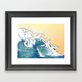 They Are in the Waves Framed Art Print