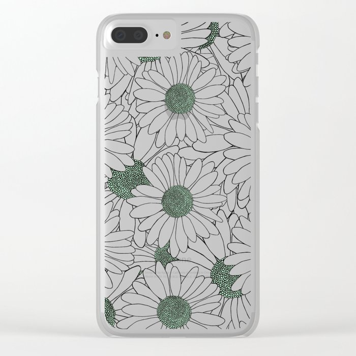 Daisy Mint Clear iPhone Case
