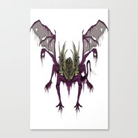 dark souls Canvas Prints featuring Gaping Dragon (Dark Souls) by Strange things collection