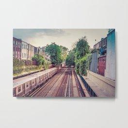 NYC 7 Line Metal Print