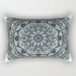 Geo-Circle. Grey. White Background. Rectangular Pillow