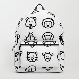 CUTE ANIMAL KINGDOM PATTERN Backpack