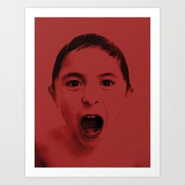 Red and you shout Art Print