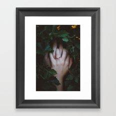 Hands Nature Framed Art Print