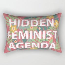 Feminist Agenda (Hidden in Florals) Rectangular Pillow