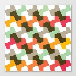 Geometric Pattern #56 (mint orange red) Canvas Print