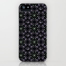 Detailed Flower Vector Pattern iPhone Case