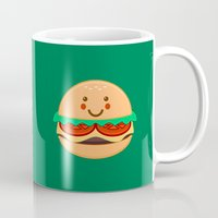 burger Mugs featuring Burger by AnishaCreations