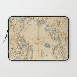 Map of the Arctic and Adjacent Regions (1855) Laptop Sleeve