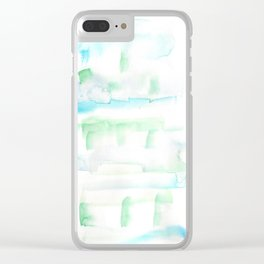 171122 Self Expression 1| Abstract Watercolors Clear iPhone Case