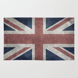 UK Flag, Retro Desaturated 1:2 scale Rug