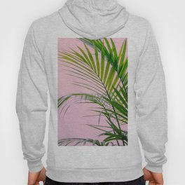Palm leaves paradise in pink Hoody