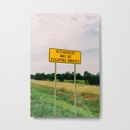 Hitchhikers Metal Print